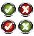 white checkmarks labels vector image