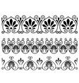 Set of floral vintage embellishments vector image