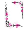 Abstract flowers frame vector image