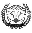 Grunge lion head emblem vector image
