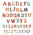 Colorful abstract alphabet with numbers and vector image