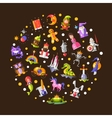fairy tales flat design magic vector image