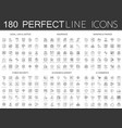 180 modern thin line icons set legal law and vector image vector image