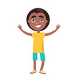afro boy celebrates international holiday for kids vector image vector image