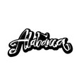 alabama sticker modern calligraphy hand vector image vector image