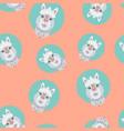 alpaca or lama seamless pattern vector image vector image