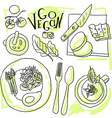 Assorted vegetable vector image vector image