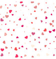 background with different colored confetti hearts vector image vector image