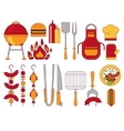 Barbecue Grill Icons vector image