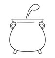 boiled cauldron icon outline style vector image vector image