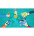 business banner - successful cooperation vector image vector image