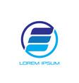 business finance logo company vector image