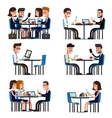 Business lunch break vector image