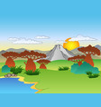cartoon african landscape vector image