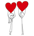 cartoon couple man and woman in love vector image vector image