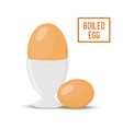 cartoon egg in egg-cup flat style vector image