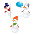 Christmas Snowman Set vector image vector image