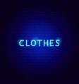 clothes neon text vector image vector image