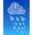 Cloud computing social media vector image vector image