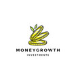 coin leaf sprout money grow growth investment vector image vector image