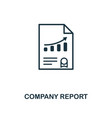 company report icon creative element design from vector image vector image