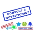 Consult a Nutritionist Rubber Stamp vector image vector image