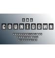 countdown alphabet font template set letters vector image