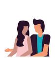 couple romantic love flat design vector image vector image
