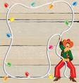 cowboy christmas lasso invitation vector image