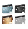 credit card set realistic bank cards isolated on vector image vector image