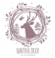deer silhouette forestry vector image vector image