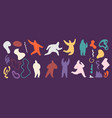 doodle shapes and silhouettes abstract art shape vector image vector image