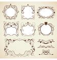 Elegance vintage frames vector image vector image