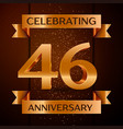 forty six years anniversary celebration design vector image vector image