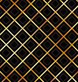 Golden grid background vector image vector image