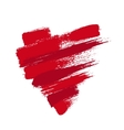 Grunge Heart from Brush Strokes vector image vector image