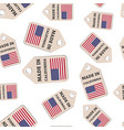 hang tag made in california sticker with flag vector image vector image