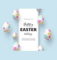 happy easter holiday composition with easter eggs vector image vector image