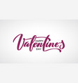 happy valentine day hand-written lettering vector image