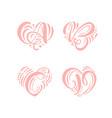 heart love hand drawn calligraphic