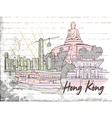 hong kong doodles vector image vector image