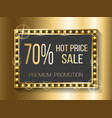 hot price sale 70 percent off cost discount banner vector image vector image
