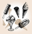 ice cream draw vector image vector image
