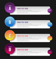 infographic steps options geometric element with vector image