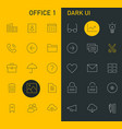 inline office icons collection trendy line icons vector image