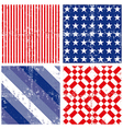 july 4th american textures vector image vector image