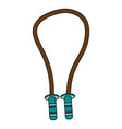 jumping rope exercise equipment icon image vector image vector image