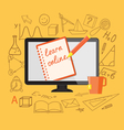 learn online vector image vector image
