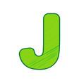 letter j sign design template element vector image