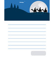 letter to the three wise men of orient vector image vector image